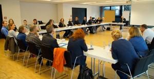 Konstruktive Diskussionen bei einer von fünf Arbeitsgruppen