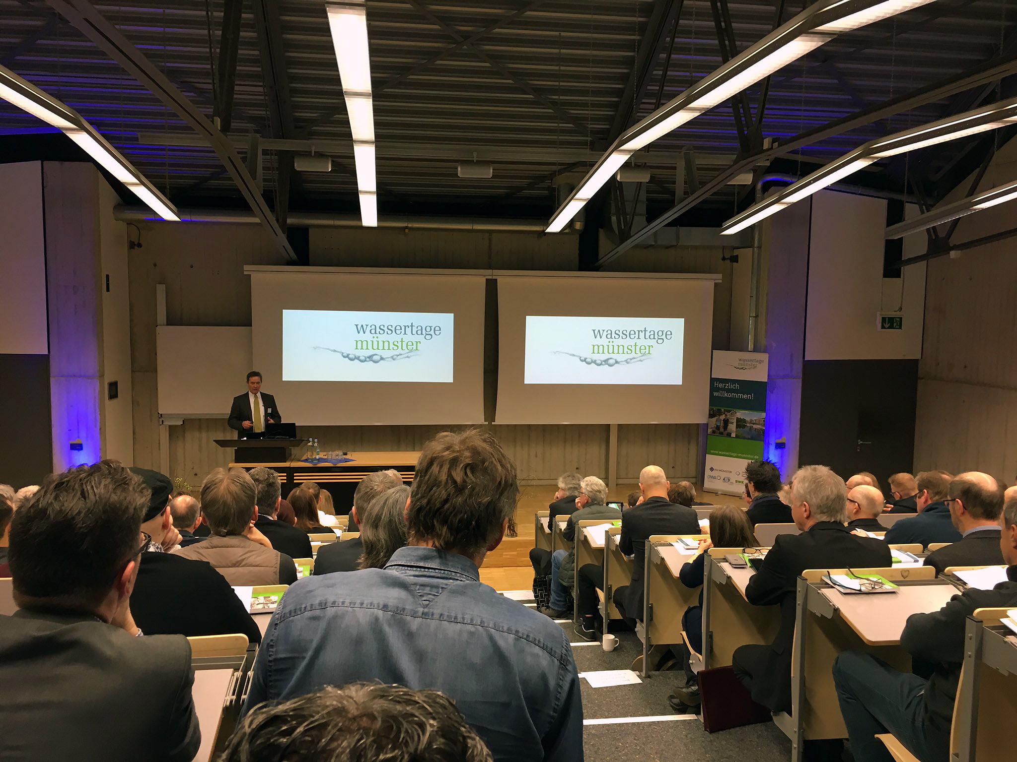 Wassertage Münster 2017 WaSiG Eröffnung Prof. Uhl