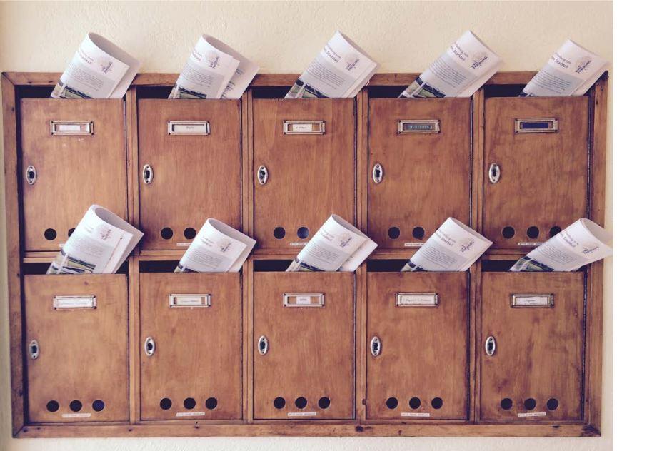 Fragebogenverteilung, Foto: Florenz König, Universität Freiburg