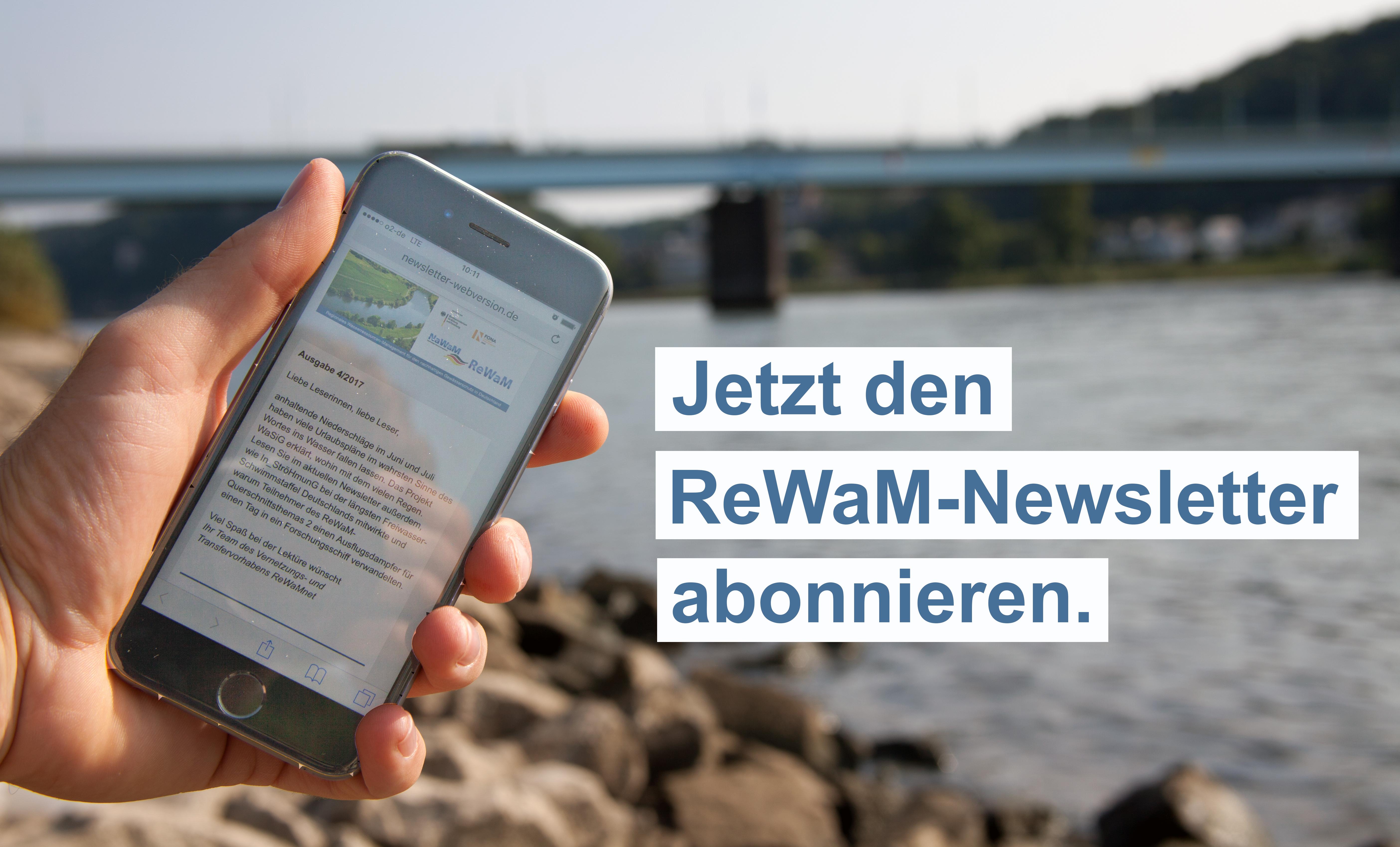 Newsletter_Wasser ReWaM Abonnieren