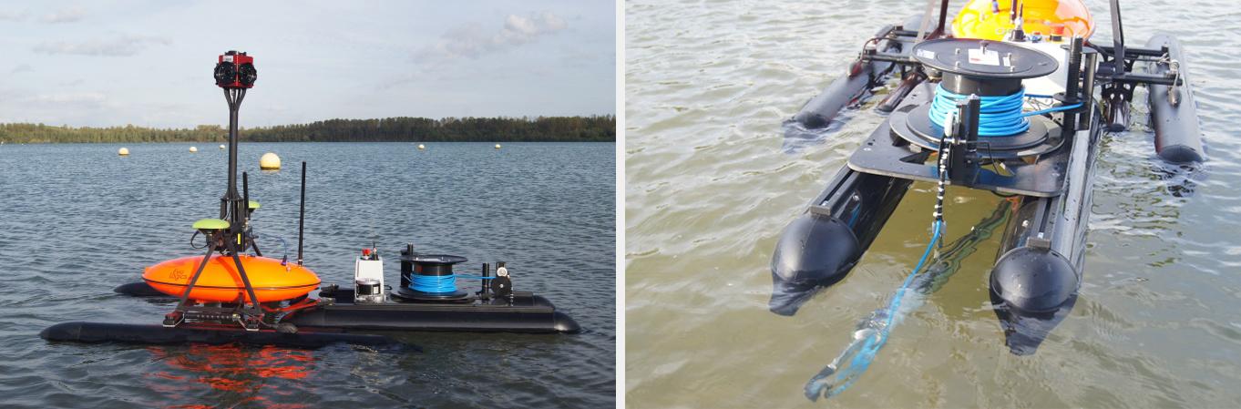 Das RiveBoat mit integriertem Trailer mit Winde