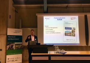 Dr. Christian Alecke (BMBF) bei seiner Keynote zum Thema Forschung und Entwicklung für nachhaltige Kommunen
