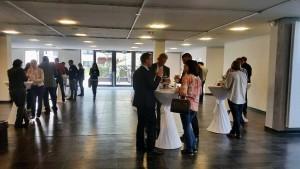 Spannende Diskussionen beim Mittagsimbiss des ReWaM-Anwenderworkshops